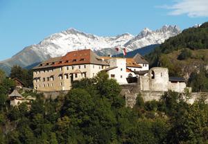 Eine gewaltige Anlage: Schloss Sonnenburg in St. Lozenzen im Pustertal.