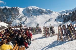 Frühlingefühle auf der Piste beim Sonnen-Skilaufen in Obereggen, Foto: TV Obereggen