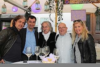Begegnung mit einem Original: Cem Özdemir bei Cobo(Mitte), links Heiner Sieger, neben Cobo Dieter Warnick und Jutta Jauch-Sieger