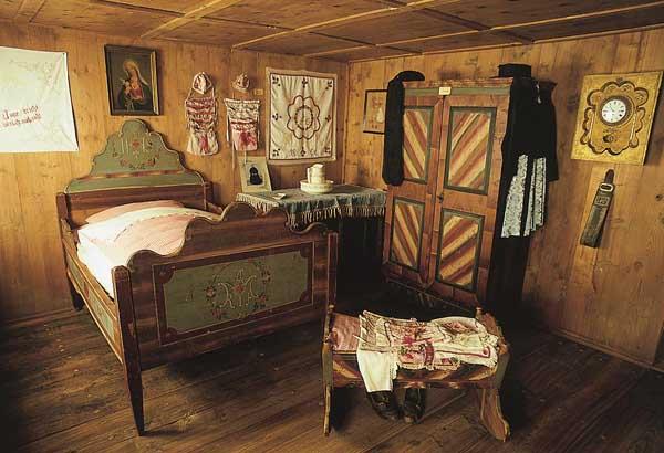 Museum Steinegg - ein Schlafgemach.
