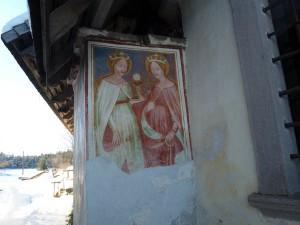 Die Wandgemälde von St. Helena sind kostbare Zeugnisse der Hochgotik. - Foto: Herbert Pichler
