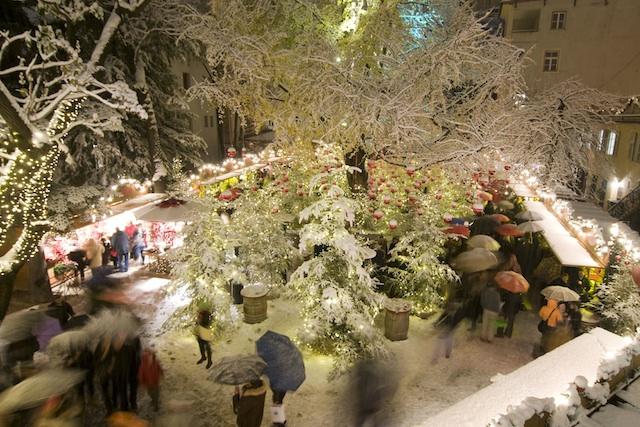 Der Christkindlmarkt in Bozen ist beonder idyllisch im Campofranco, Foto TV Bozen