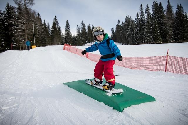 Früh übt sich....KInder-Skipark Carezza; Foto: Eggental