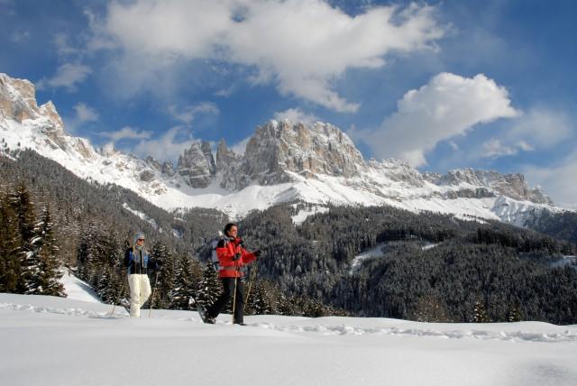 Schneeschuhwandern in Tiers am Rosengarten, Foto: Helmuth Rier