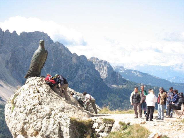 Christomannos Denkmal, am Weg zur Rotwandhütte;, Bild: Heidi Kjaer, eigenes Foto