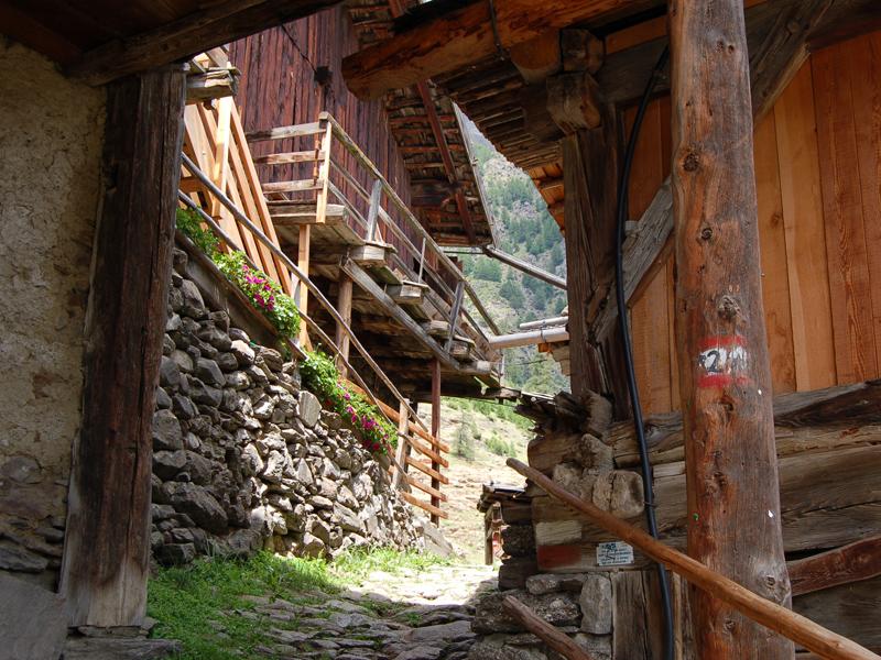 Der Meraner Hohenweg beim Pirchhof oberhalb Naturns, Foto: TV Meraner Land