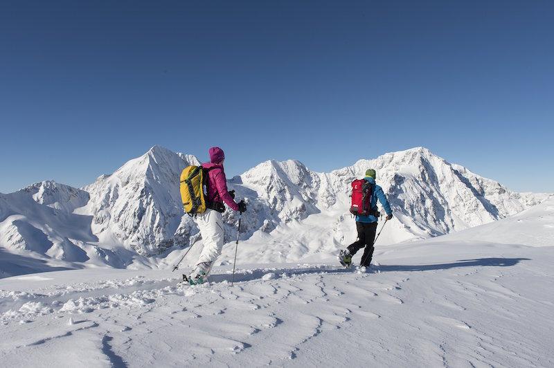 Für die Skitour auf die 3.376 Meter hohe Suldenspitze im Vinschgau sind viel Erfahrung und Gletscherausrüstung erforderlich; Foto: Vinschgau Marketing/Thomas Grüner