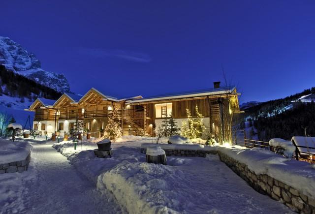 Winterstimmung im Hotel Fanes in St.Kassian, Foto: Hotel Fanes
