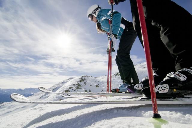 im Skigebiet Haider Alm, geht's auch in der Hauptsaison entspannt zu. Foto Ortler Skiarena; Alex Filz