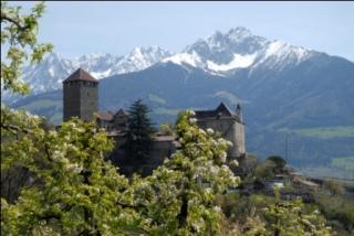 Dorf Tirol: Imposante Kulisse und Namensgeber für eine ganze Region; Foto TV Dorf Tirol