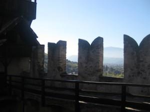 Schloss Runkelstein bei Bozen: Alte Fresken, schönes Panorama, Bild: Heiner Sieger