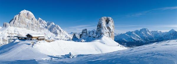 Die Tofana, einer der markantesten Dolomitengipfel. - Foto: Cortina Turismo