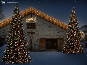 Ein außergewöhnicher Weihnachtsmarkt findet in einem Stadel bei der Enzianalm im Martelltal statt.