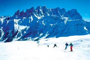Traumhaft: Im Skigebiet Trevalli passt alles zusammen.