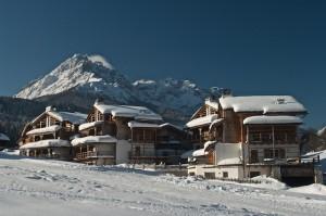 Das Dolce Vita Family Chalet Post Alpina bei Innichen bietet die heimeilge Atmosphäre eines Südtrioler Bauenrdorfes, Foto: mk-salzburg