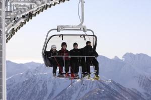 Ein perfekter Skitag kann beginnen.