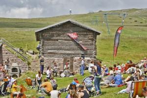 Wo im Winter die Skifahrer runter brettern, gastert im Sommer das Südtiroler Jazzfestival; Foto: MRuepp