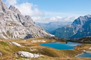 In den Sextener Dolomiten lassen sich noch Spuren der Dinosaurier finden, Foto: ASI Alpinschule Innsbruck