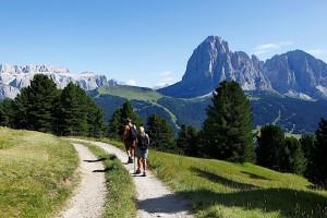 Wandern unterm Langkofel gehört auch zu den Disziplinen der Volkssport-Olympiade im Grödner Tal, Foto: Val Gardena