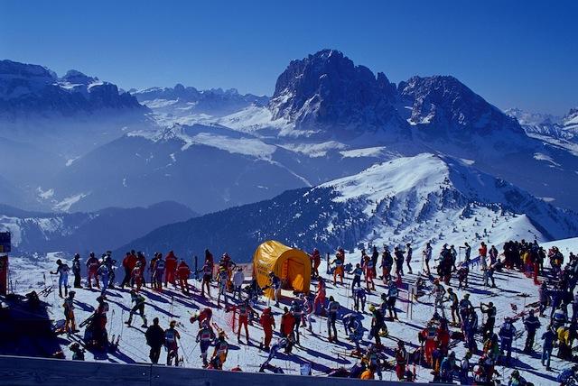 Gardenissima: Zum 18. Mal gehen Skifahrer in Gröden beim legendären Volks-Riesenslalom an den Start, Foto: TV Gröden