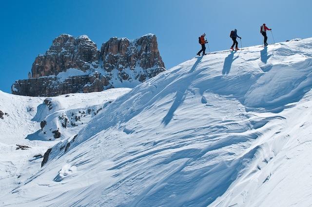 CorCortina d'Ampezzo ist im Winter  auch ein Paradies für Tourengeher, Guiseppe Ghedina