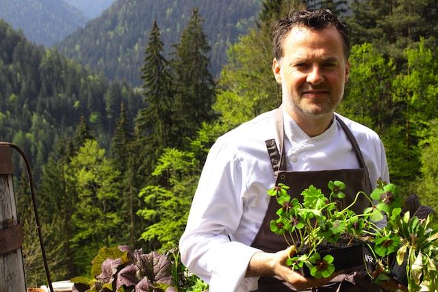 Der Eggentaler Theodor Falser erkochte einen Michelin-Stern im Hotel Engel in Welschnofen; Foto: Wellnesshotel Engel