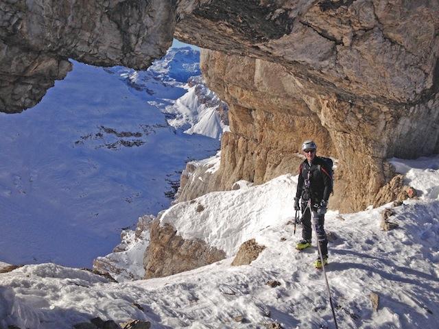 Cortina d'Ampezzo: Ein neuer Klettersteig führt lawinengeschützt zum Gipfel der Tofana di Mezzo. Foto: Cortina Tursimo
