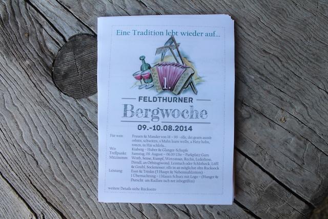 Auf gehts zur 1. Feldthurner Bergwoche, Foto; Heiner Sieger