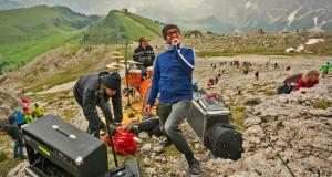 Jazzen in den Grödner Dolomiten: 2014 das Projekt Saslonch Suite in der Langkofel-Wand, Foto: G.Pichler
