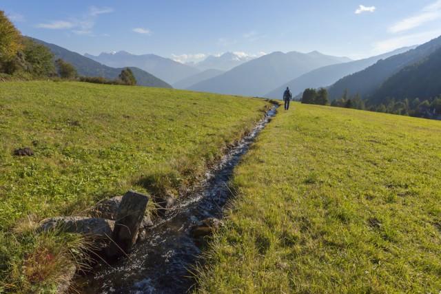Die Waalwege im Vinschgau sind auch für Untrainierte geeignet und besonders im Frühling eine Wanderung wert. Foto: Vinschgau Marketing/Frieder Blickle