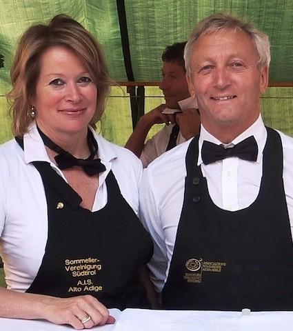Genussbotschafter Albin Thöni und seine Ehefrau Chris Mayr, Präsidentin der Sommeliervereinigung Südtirols