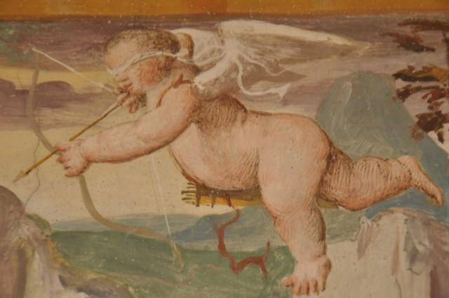Amors Pfeil - von einer Freske in Bozens Burg Runkelstein, Foto TV Bolzano-Bozen