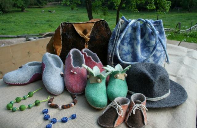 Naturprodukte aus Ritas Filzstübele; Foto: Roter Hahn